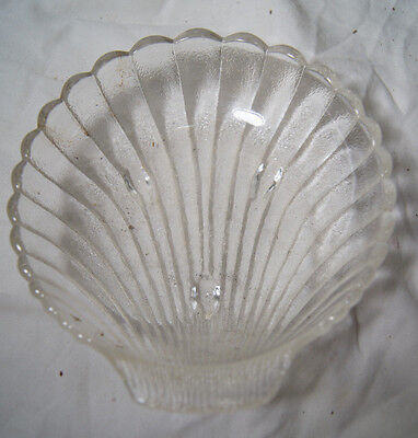 Clear Glass Decorative Nautical Shell Shaped Trinket Dish