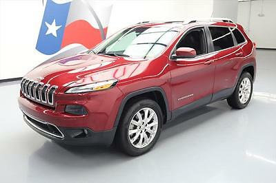 2015 Jeep Cherokee  2015 JEEP CHEROKEE LIMITED 4X4 HTD SEATS PANO ROOF 20K #584080 Texas Direct Auto