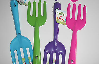 2 x Colourful Hand Fork strong metal Garden Tool.
