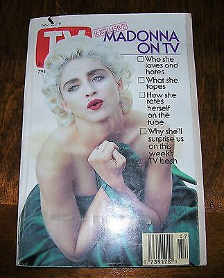 MADONNA cover TV GUIDE Nov 1991 Magazine 91 Mag US music MTV Andrew Dice Clay