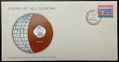 Coins of all Nations Series - 1980 Pakistan 5 Paise - Coin & Stamp Set - BU
