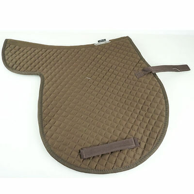 Z10 Full Brown Roma Cotton English Saddle Pad Make Horse Comfortable Wicking