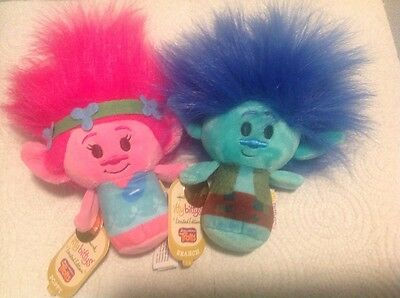 2016 Hallmark Itty Bitty Bittys Branch & Poppy Dreamworks Trolls Limited Edition