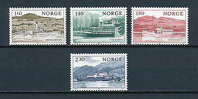 Norway 786-89 MNH, Ships, 1981