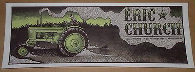 Eric Church Bakersfield California Concert Tour Poster Print Jim Mazza S/N 2012