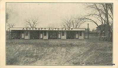 1940s Ashcroft Dads Auto Camp La Junta Colorado postcard roadside 5539