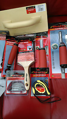 Job Lot Of Plastering Trowels ,float,wall Brush ,screw Extractor,tape.