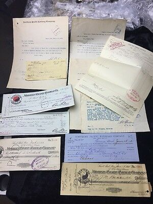 1892-1915 Northern Pacific Railroad Historic Ephemera Collection Lot NP2