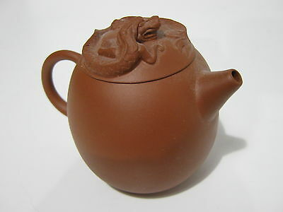 VINTAGE small CHINESE YIXING TEA POT - Seal marks to base and cover 2oth c
