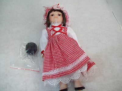 """Royalton Collection Little Miss Muffett 10"""" Bisque Porcelain Hand-Painted Doll"""