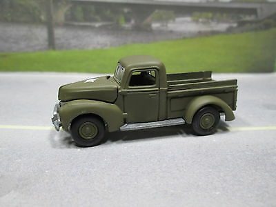 1940 '40  Ford Pickup U.s. Army  S Scale Loose Near Mint