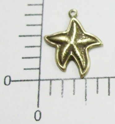 46103        6 Pc Brass Oxidized Small Starfish Jewelry Finding Charm