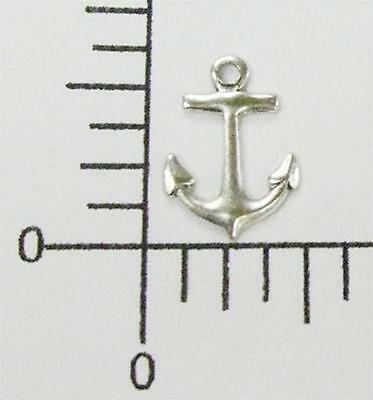 46404        6 Pc. Matte Silver Oxidized Small Anchor Charm Jewelry Finding