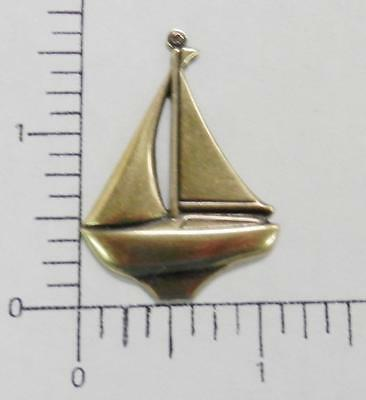 46363       2 Pc Brass Oxidized Sailboat Jewelry Finding Charm Pendant