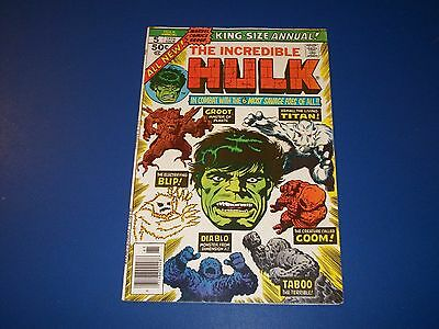 Incredible Hulk Annual #5 Bronze Age 2nd Groot Key Issue  wow Solid VGF