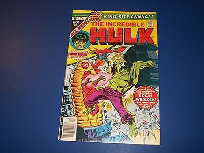 Incredible Hulk Annual #6 Bronze age Her Cocoon Warlock VF Beauty Paragon