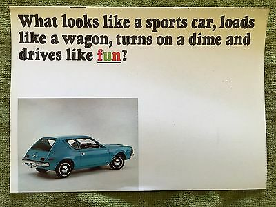 1970 Gremlin Amc Brochure With Hornet, Rebel, And Javelin! Awesome!  Free Ship!