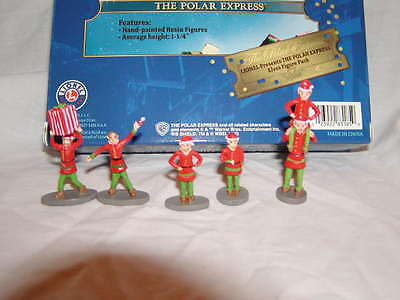 Lionel 6-83185 Polar Express Elves Figure Pack MIB New 5 Elf Figures O 027 2016