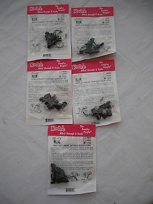 Lot of 5 New Packs of Kadee 1840, Replacement Offset Couplers, #1 Gauge #1 Scale