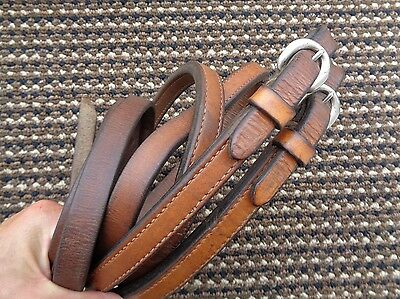 "Weighted Western Horse Riding Split Reins For Bridle ~ 8'6"" x 3/4"""