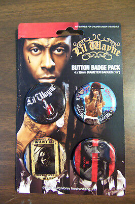 Lil Wayne 4 Count Button Set New