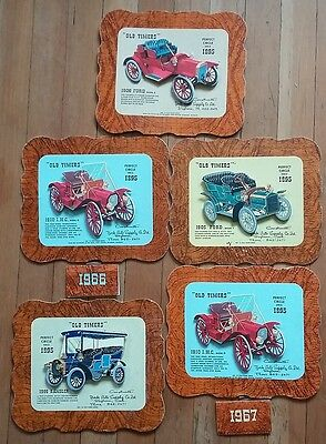 -5-1960s Old Timer Series Pop Up Car Calendars see note