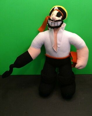 """Rare 2004 Kellytoy Popeye and Pals Approx 9"""" Brutus Pirate Plush"""