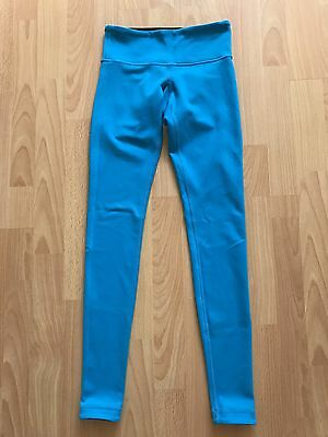 RARE Lululemon Reversible Wunder Under Black Blue 2 Full Length Leggings Pants