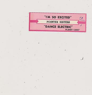 Pointer Sisters-I'm So Excited Jukebox Title Strip-Buy 10 Free Shipping