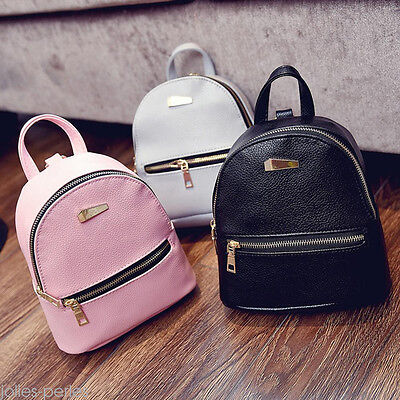 US Fashion Women Leather Backpacks Mini Travel Rucksack Handbags School Bag New