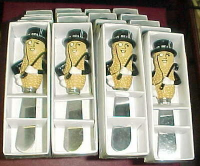 4-Planters, Mr. Peanut Butter Spreader Mint In Box sold in lots of four.