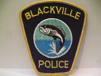 police patch  BLACKVILLE POLICE NEW BRUNSWICK CANADA  LIGHTER BACKGROUND
