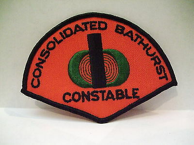 police patch  CONSOLIDATED BATHURST CONSTABLE  NEW BRUNSWICK CANADA