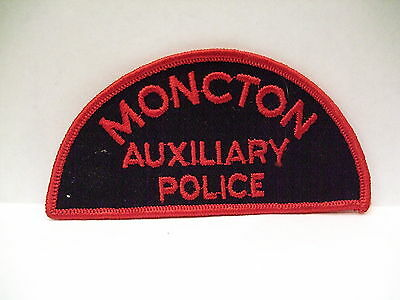police patch  MONCTON AUXILIARY POLICE NEW BRUNSWICK CANADA