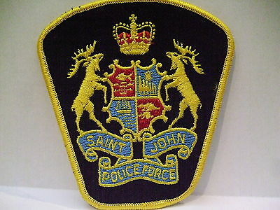 police patch  SAINT JOHN POLICE FORCE NEW BRUNSWICK CANADA