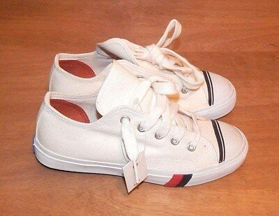 1960's-70's White PRO-KEDS SNEAKERS YK-290M (Size 1M) ~ Made in Philippines NOS