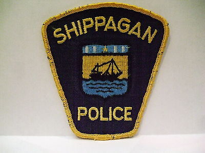 police patch  SHIPPAGAN POLICE NEW BRUNSWICK CANADA  OLDER STYLE