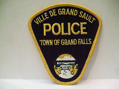 police patch  TOWN OF GRAND FALLS POLICE NEW BRUNSWICK CANADA
