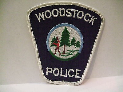 police patch  WOODSTOCK POLICE NEW BRUNSWICK CANADA
