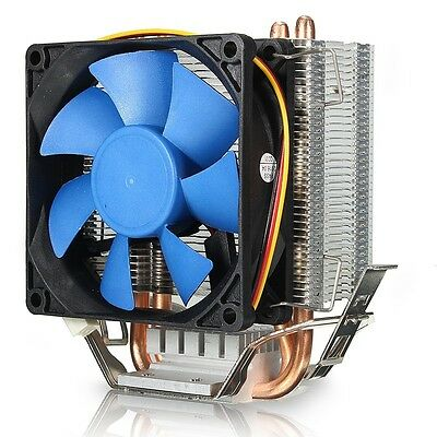 Cooling Dual Fan CPU Quiet Cooler Heatsink For Intel LGA1150/1156 AMD FM2/AM3+