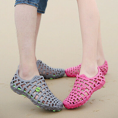 Hot Men And Women Breathable Slippers Hollow-out Beach Sandals Garden Hole Shoes