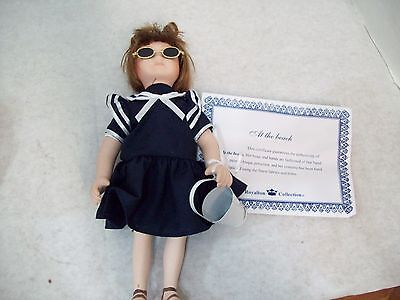 """Royalton Collection """"At The Beach"""" 10"""" Bisque Porcelain Hand-Painted Doll"""