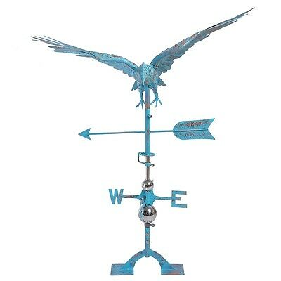 Hand-forged Weathervane Roof Stuart Eagle Wind Vane Ornaments Aged Copper Patina