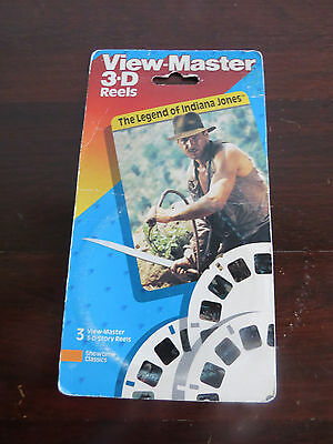 "Vintage View Master 3 Reels ""the Legend Of Indiana Jones"" 4092 - 1989"