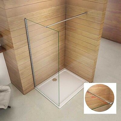 Classic Wet Room Shower Enclosure 8mm Glass Cubicle Screen Panel 1850 1950 2000