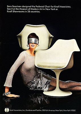 1967 Pedestal Chair by Eero Saarinen photo See at MOMA Knoll Furniture print ad