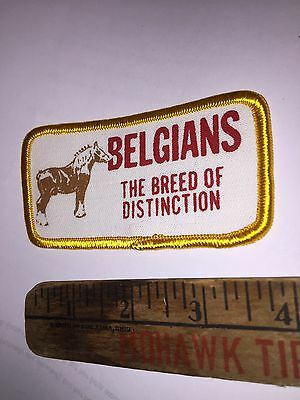 Belgian Horse Cloth Patch Old Vintage Belgians The Breed Of Distinction Horses