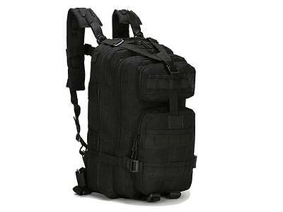 30L 3P Black Outdoor Military Tactical Backpack Camping Hiking Trekking Bag