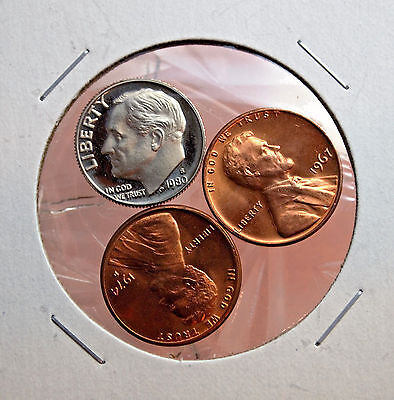Nice Lot Of 3 United States Coins (Nice Addition To Your Collection).....#12715