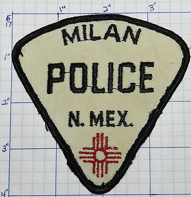 "New Mexico, Milan Police Dept 4"" Vintage Patch"